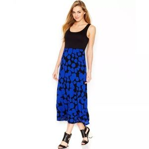 NEW Kensie Dot Print Stretch Maxi Dress